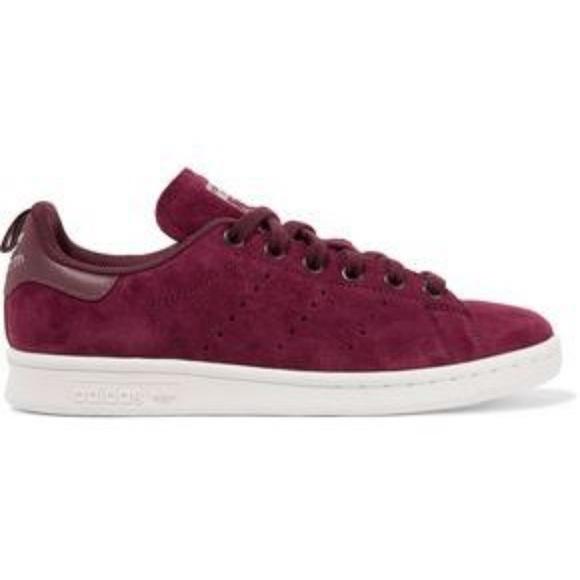 Suede Burgundy Stan Smith Adidas